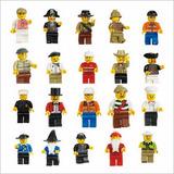 Kit 20 Bonecos Lego City - Boneco Lego Melhor Preço Promoção