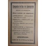 Publicidad Antigua Compañía De Gas De Concepción