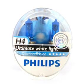 Par Lâmpada Philips Diamond Vision H4 Original Frete Gratis