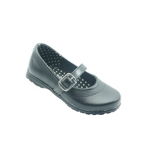 Zapato Escolar Para Niña Piel Negro Marca Vanessa