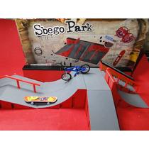Pista Sbego Park Com Skate Dedo + Bike Acessorios Peças