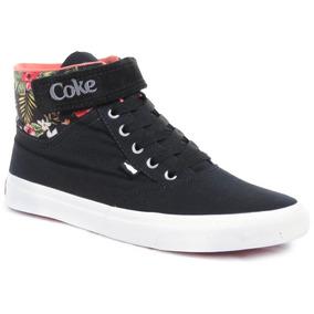 Botas Coca Cola Shoes Mika Floral Urbanas Mujer Moda Lona