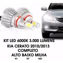 Kit Led Farol Principal/milha Kia Cerato 2010/13 H7 H1 H27