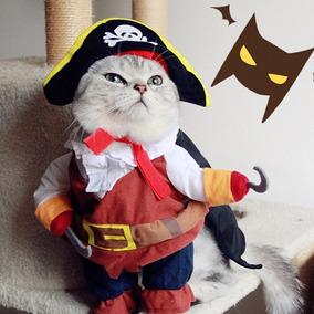 Roupa Fantasia Pirata Pet Cachorro Gato Cão Festa Roupinha M
