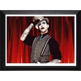 Cuadros De Marilyn Manson! Marco Madera+vidrio+foto Deco!