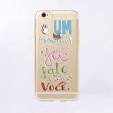 Capinha Capa Case Iphone 6/6s Um Momento Ja Falo C Vc