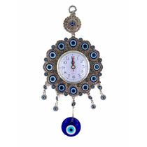 Relógio De Parede Analógico Olho Grego Decorativo Moderno