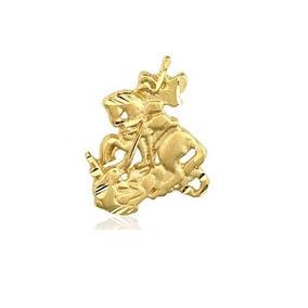 Pingente São Jorge Recortado Em Ouro 18k