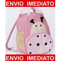 Mochila Infantil Joaninha - Menina - Mochila De Bebê - G
