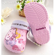 Coquetas Sandalias Crocs De Hello Kitty