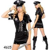 Fantasia Sexy Traje Polícia Feminina 3 Peças
