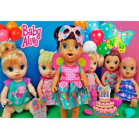 Baby Alive Festa Das Borboletas Papel Arroz A4 Para Bolo