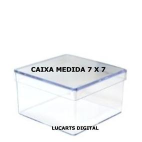 50 Caixinha De Acrílico 7x7x4 Cm Cristal