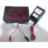 Carregador 6v + Bateria 6v 12ah Hma 6-12 La6120 Lc-r0612p