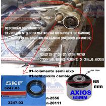 Kit Bucha Coxim + Rolamento Semi Eixo 206 207 307 C4 Picasso