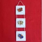 Cuadros Tripticos De Mariposas Modernos Colores Metalicos