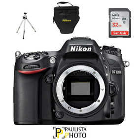 Câmera Nikon D7100 Corpo + 32gb Classe 10 +bolsa + Tripé