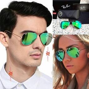 Oculos De Sol Ray-ban Aviador Espelhado Unisex Moda Panicat