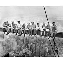 Lamina Obreros Sentados En Viga 80x60 Papel 300 Gramos
