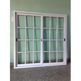 Ventana De Aluminio Bco 150x150 Vidrio Repartido 4mm