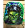 Mochila Infantil De Costas Hulk 3d Altorelevo