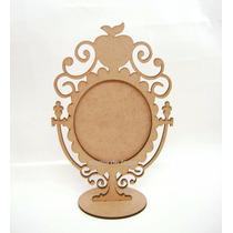 Moldura20cm Espelho Branca De Neve Princesa Maça Ou Coração