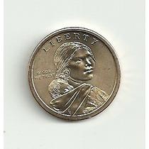Moeda Um Dólar Eua Native American 2013 Uncirculated