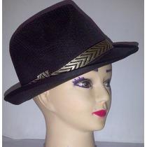 Sombreros Estilo Borsalino Unicolores De Polyester Unisex