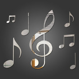 Espelho Decorativo Notas Musicais
