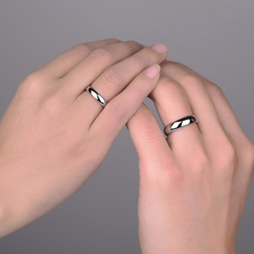 Aliança De Namoro Compromisso Prata Aço Inox Do 13 Ao 33