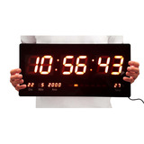 Relogio Parede Digital Led Data Termometro Calendario Grande