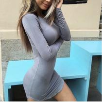 Vestido Corto Manga Langa Sexy