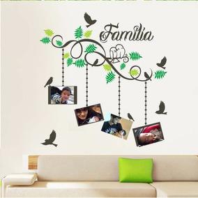 vinilos decorativos arboles porta retratos aves florales