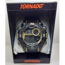 Relogio Tornado Dourado Esportivo Resistente Mergulho 7439g