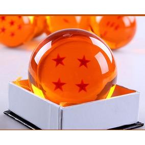 Esfera Do Dragão 4 Estrelas Tamanho Grande Real 7cm Goku Dbz