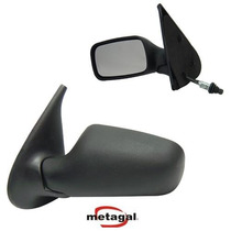 Retrovisor Palio 96 00 4 Portas Controle Manual - Metagal