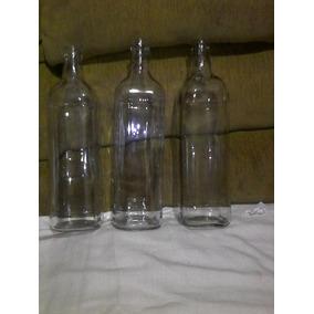 Garrafa Transparente De Vidro 1l Vazia Decoração Artesanato