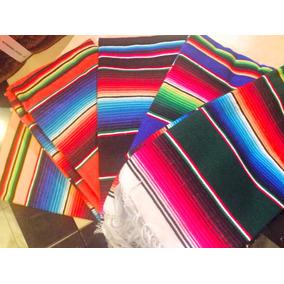 Sarape De Saltillo Artesanía 100% Mexicana Mini 50x110 Cms