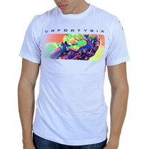 Camiseta Valentino Rossi Vr46 Pop Art Cartoon Branco Gg Rs1