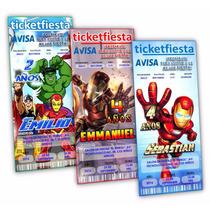 Diseño De Invitaciones Imprimibles Iron Man