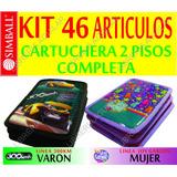 Cartuchera Completa Simball 2 Pisos 46 Productos Escolares
