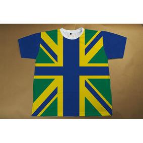 Camiseta Reino Unido Brasil Grã Bretanha Inglaterra - Camisetas no ... 1259c6de9fa66