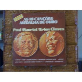 Vinil Lp Paul Mauriat E Erlon Chaves-as Canções Medalha Ouro