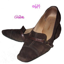 Zapatos En Gamuza Regina Romero ~ #614