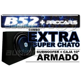 Cajon Armado Extra Chato B52 Woofer 10 Pulgadas 450w Zero