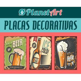 Placas 20x13 Retrô Vintage Bebidas Comida Carro Brindes