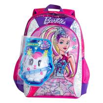 Mochila Infantil Barbie Aventura Nas Estrelas 64738 G Rosa