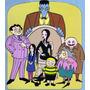 Camiseta Estampa Familia Addams, Morticia, Tio Chico,tropeço