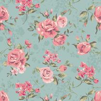 Papel De Parede Floral Rosas Contact - Lavável - Vinílico