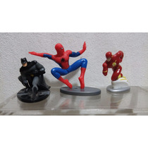 Batman Spiderman Y Flash Marvel Huevo Kinder 3 Figuras
